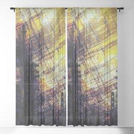 Burning Cities Sheer Curtain