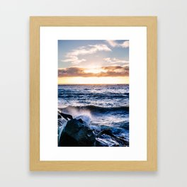 Dublin sunrise from Poolbeg Framed Art Print