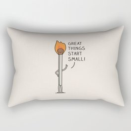 Small things make a big difference Rectangular Pillow