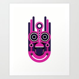 Tiki Mask Art Print