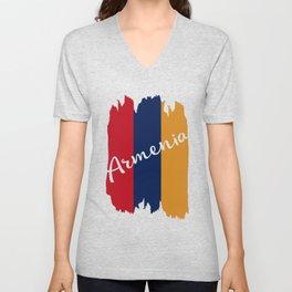 Flag of Armenia #society6 #decor #buyart #artprint Unisex V-Neck