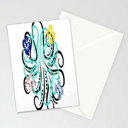 pretty octupus Stationery Cards