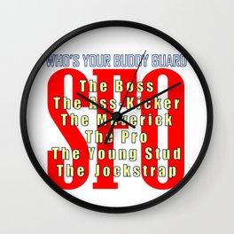 SFO Who's Your Buddy Guard Wall Clock