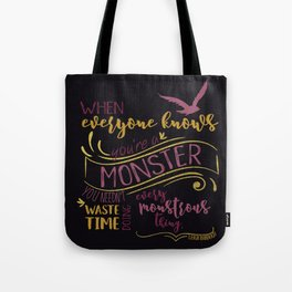 Every Monstrous Thing - Dark Tote Bag