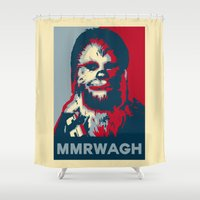chewbacca Shower Curtains featuring Chewbacca  by Ilustrachii