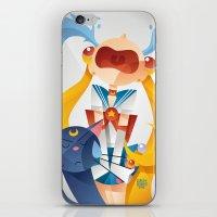 sailormoon iPhone & iPod Skins featuring Crying Sailor Moon by Claudio Bandoli