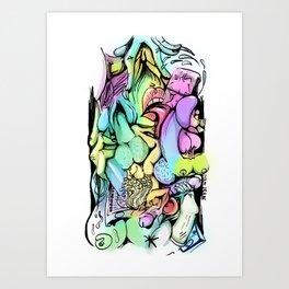 Visual Orgy Art Print