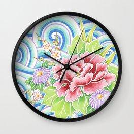 Kimono Bouquet Wall Clock