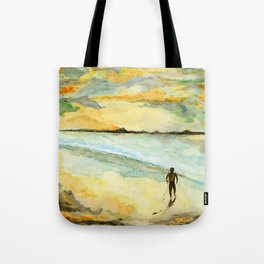 Orange Sunset Surf Tote Bag