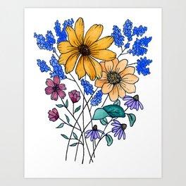 Bundle of Flowers Art Print