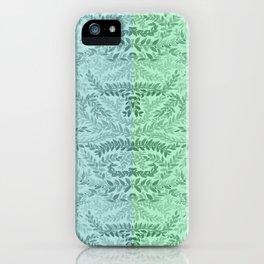 Green blue striped laurel iPhone Case