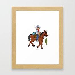 Cowboy on the horse Framed Art Print