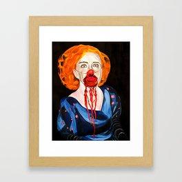 Bette Davis as a clown Framed Art Print