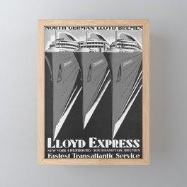 Vintage Lloy Express Framed Mini Art Print