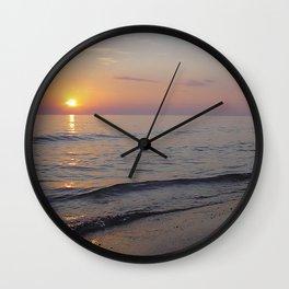 Sunset Beach Waves Wall Clock