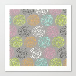 Flowers-triangles Canvas Print