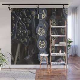 Antique Saddle Buckles Wall Mural