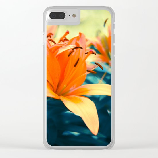 Summer Lilies I Clear iPhone Case