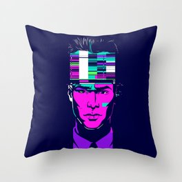 mnemonic_data_overload_ Throw Pillow