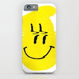 Smiley Glitch iPhone Case