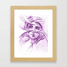 Her eyes_1 Framed Art Print