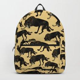 Black wolf totem Backpack