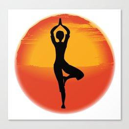 Vrksasana Yoga Pose Canvas Print