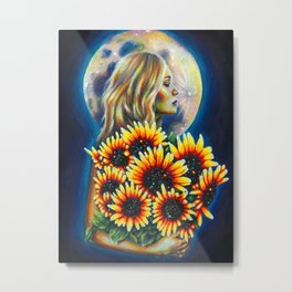 She brought the sun Metal Print