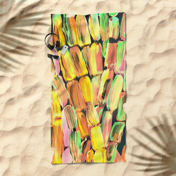 Golden Sweet Yellow Sugarcane Beach Towel