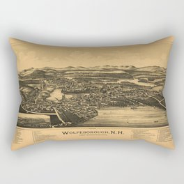 Aerial View of Wolfeborough, New Hampshire (1889) Rectangular Pillow