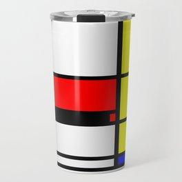 Mondrian Pattern Design Travel Mug