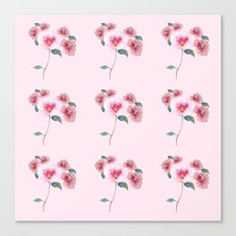 Floral Bouquet Pattern. Roses and a Peony Canvas Print