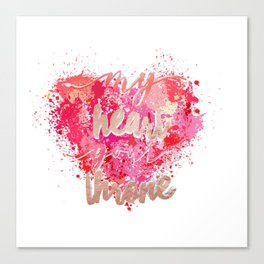 my heart your throne Canvas Print