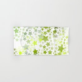 Green Stars Hand & Bath Towel