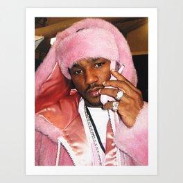 Cam'ron Pink Fur mood Art Print