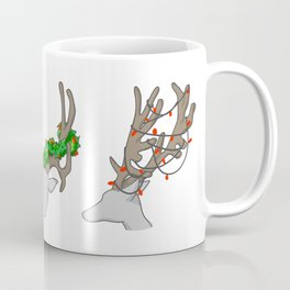Christmas Reindeer Wreath Coffee Mug