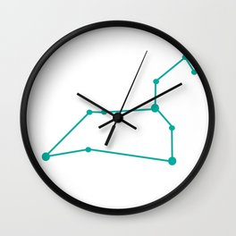 Leo (Turquoise & White) Wall Clock