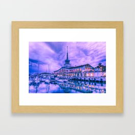 Marine station of Sochi Framed Art Print