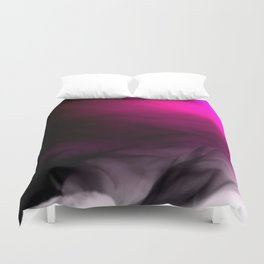 Pink Flames Pink to Black Gradient Duvet Cover