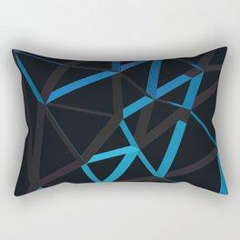 3D Futuristic GEO Lines VI Rectangular Pillow