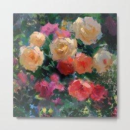 Yellow & Pink Roses Metal Print