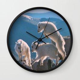 Kids - Mountain Goats Wall Clock