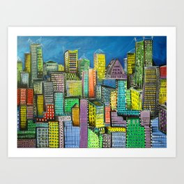 City unfolds Art Print