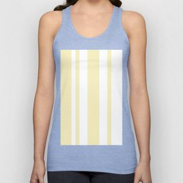 Mixed Vertical Stripes - White and Blond Yellow Unisex Tank Top