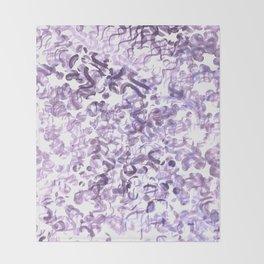 Abstract wave Purple Design Throw Blanket