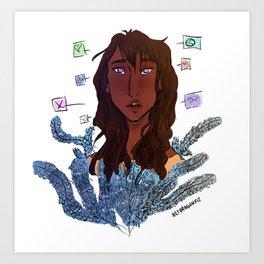 Hyacinth Piper Mclean Art Print
