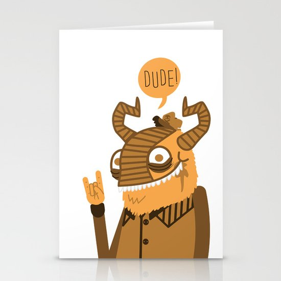 Monster Trucker Stationery Cards