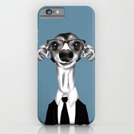 Greyhound in suit iPhone Case
