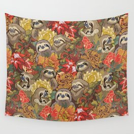 Because Sloths Autumn Wall Tapestry