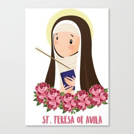 St. Teresa of Avila. Saints Canvas Print